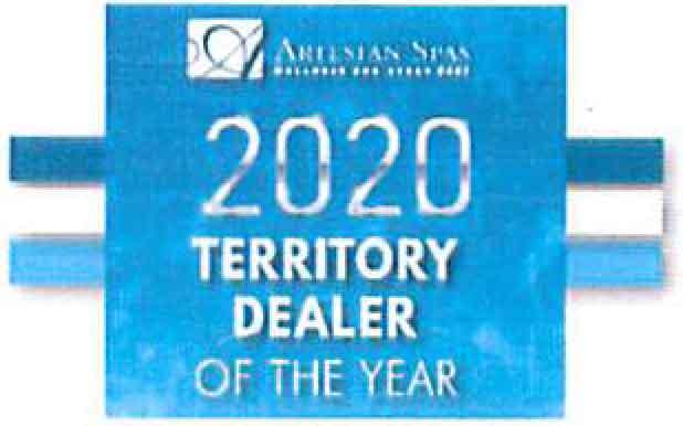 Artesian Spas 2020 Territory Dealer Of the Year